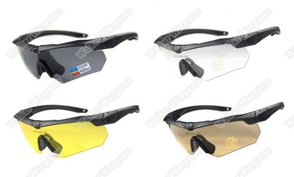 SZGESS Tactical Shooting Glasses Protective Glasses With 3 Set Lens - BL