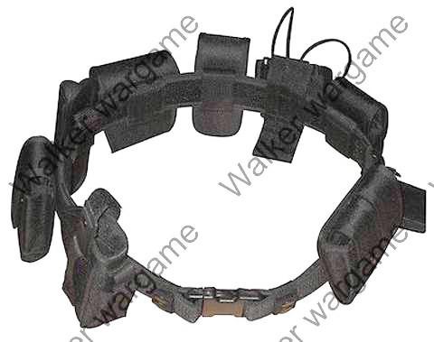 Tactical 10 In 1 Black Law Enforcement Modular Belt - SWAT Black