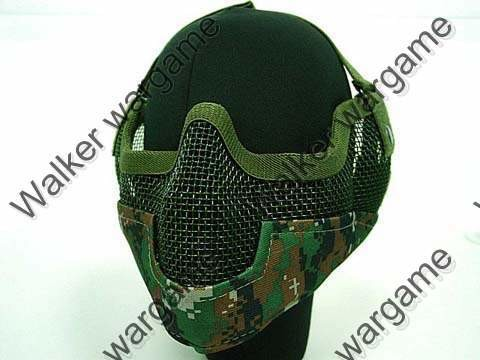 V2 Half Face Metal Mesh Mask - Digital Woodland