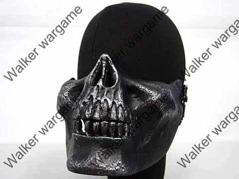 M03 Skull Plastic Half Face Protector Mask -Metal Black