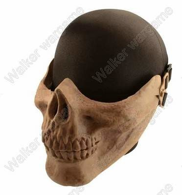 M03 Skull Plastic Half Face Protector Mask - Bone