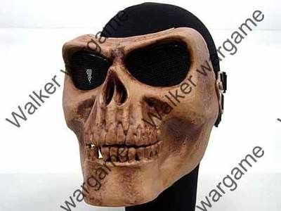 M02 Skull Plastic Full Face Protector Mask - Bone