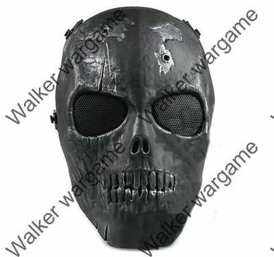 Army of Two Skull Full Face Airsoft Protector Mash Mask - Black