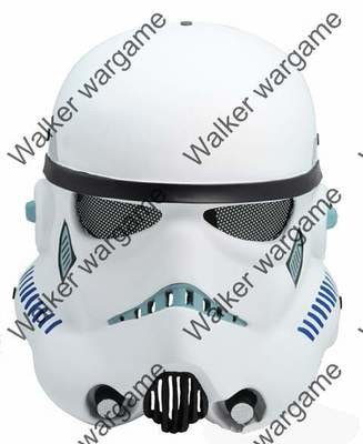 Full Face Wire Mesh White Pawns Mask - Silver (Movie STAR WAR)