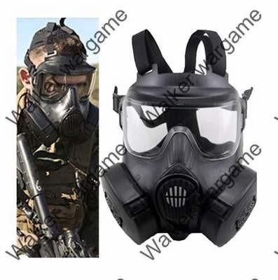 US Army M50 Dummy Gas Mask With Fan Ventilation Black