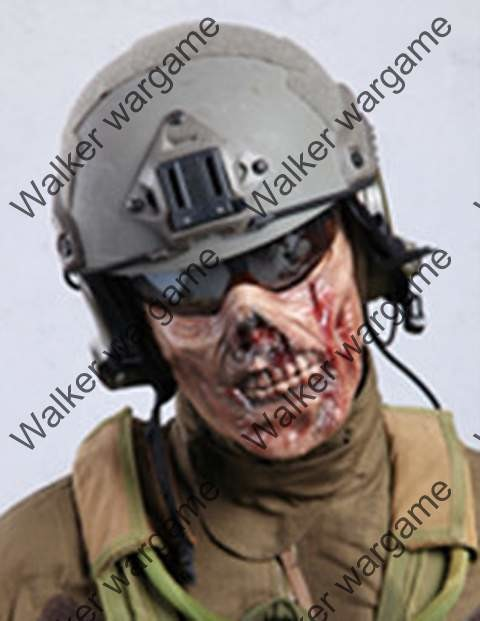 M05 Plastic Half Face Protector Mask - Zombie