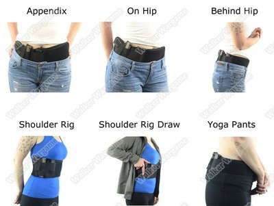 Ultimate Tactical Waist Wrap Belly Band Holster for Concealed Carry - Gen2 - Right Hand