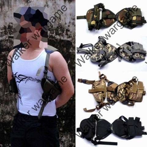 Tactical Shoulder Pistol Holster With Mag Pouch