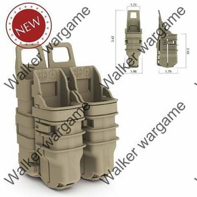 Tactical Molle FastMag Pistol and Rifle Magazine Clip Holder Pouch