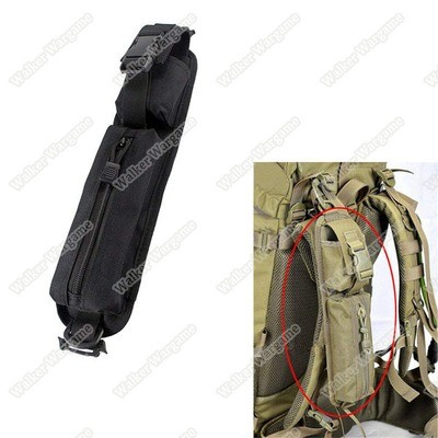 Tactical Molle Accessory Pouch Backpack Shoulder Strap Bag Hunting Tools Pouch - Black
