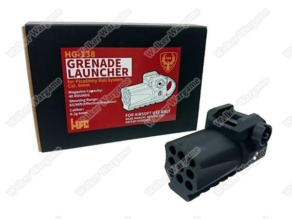 HFC HG-138 Full Metal Mini Tactical Green Gas Power Grenade Launcher - Black
