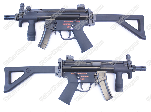 WE H&K MP5K PDW Apache Green Gas Blow Back - BLACK
