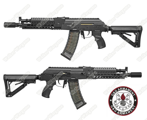 G&G Tactical RK74 E KeyMod AK Carbine AEG Airsoft Gun Build In ETU MOSFET - Black