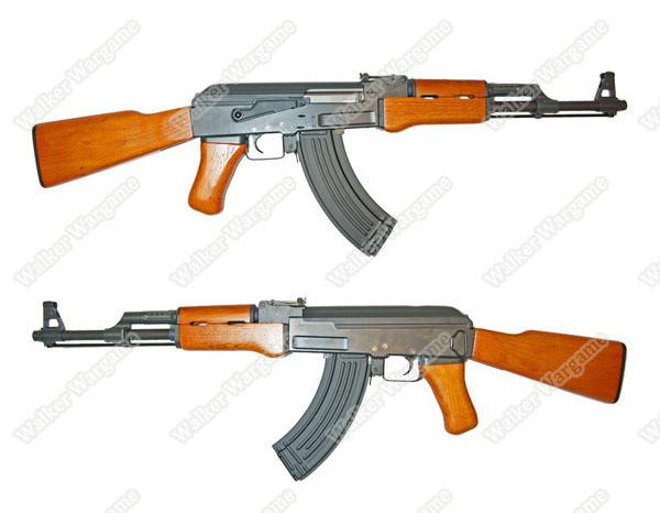 CYMA 046 AK47 Full Steel Real Wood Airsoft Electric Gun (Real Gun Size & Weight )