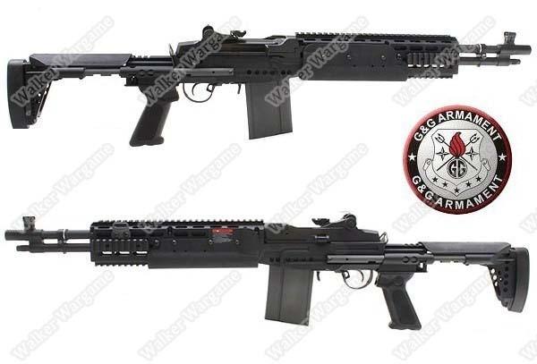 G&G M14 EBR Full Metal Sniper Rifle Full RIS Rail AEG - Short Type