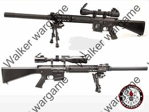 G&G Top Tech GR25 MK11 SR25 SPR Sniper Full Size Full Metal AEG Sniper Rifle