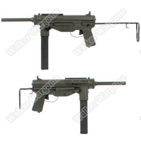 Snow Wolf M3A1 Grease Gun WW2 Submachine Gun AEG Airsoft