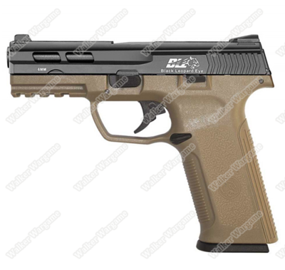 ICS BLE XAE Ambidextrous Duty Size Green Gas Blow Back GBB Airsoft Pistol - 2 Ton Color