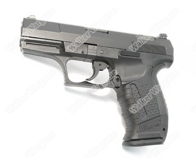 WE Walther P99 Meral Slide Green Gas Blow Back GBB Pistol - Black