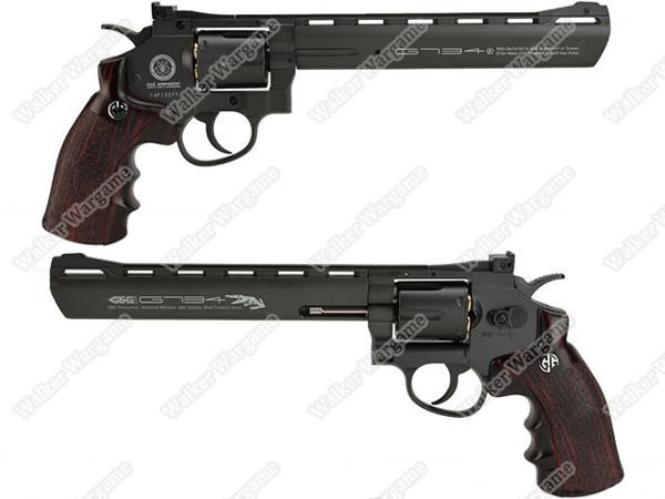 G&G Full Metal G734 CO2 Gas Airsoft Revolver - Black (With Quick Loader + 6 Shell)