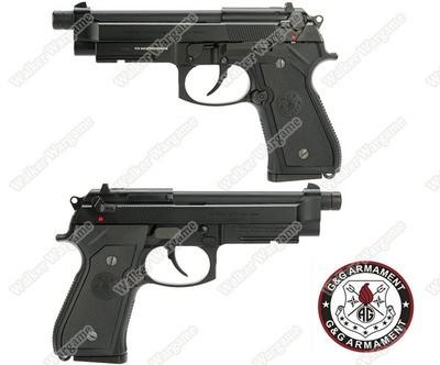 G&G Full Metal GPM92 Gas Blowback Airsoft M9 Pistol - BLACK