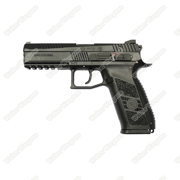 KJ Works CZ75 P09 Duty Airsoft Green Gas Blow Back Pistol - Black