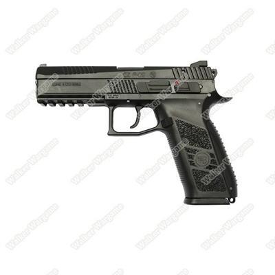 KJ Works CZ75 P09 Duty Airsoft Green Gas Blow Back Pistol - Black