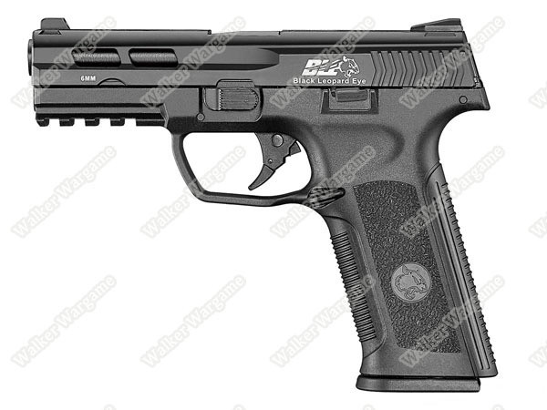 ICS BLE XAE Ambidextrous Duty Size Green Gas Blow Back GBB Airsoft Pistol - Black