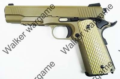 WE 1911 Kimber 4.3 MEU Full Metal Gas Blow Back Pistol - Desert Tan