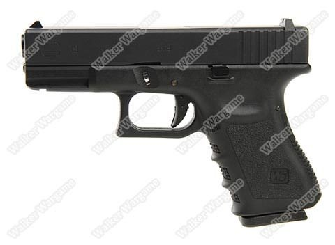 WE Tech Glock 19 Green Gas Blow Back Pistol - Black