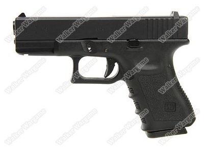 WE Tech Glock 19 Green Gas Blow Back Pistol - Black