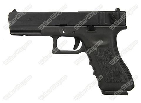 WE Tech Glock18C Geen Gas Blow Back Pistol - Black Semi Auto/Full Auto
