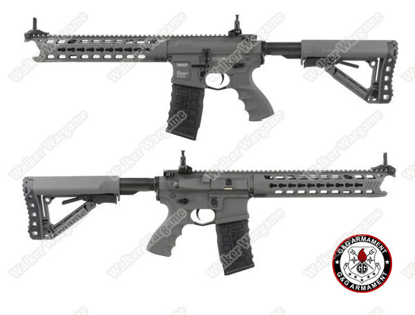 "G&G GC16 ""Predator"" Full Metal Airsoft AEG Rifle with Keymod Rail - Battleship Grey"