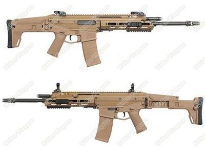 WE MSK Masada ACR Green Gas GBB Gas Blow Back Rifle Full Metal - Tan