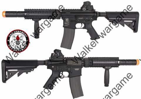 G&G M4 SD Build In Silencer AEG Full Metal RIS Rifle - BL