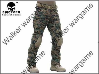 Combat Pants Build In Knee Pads - Digital Woodland