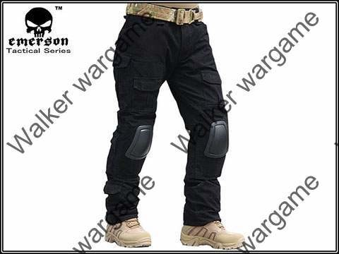 Combat Pants Build In Knee Pads - SWAT Black