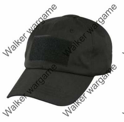 Operator Cap Velcro Flag Blood Patch - SWAT Black