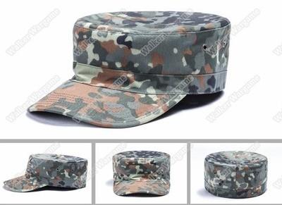 Combat Cap Hat - German Army Flecktarn Woodland Camo