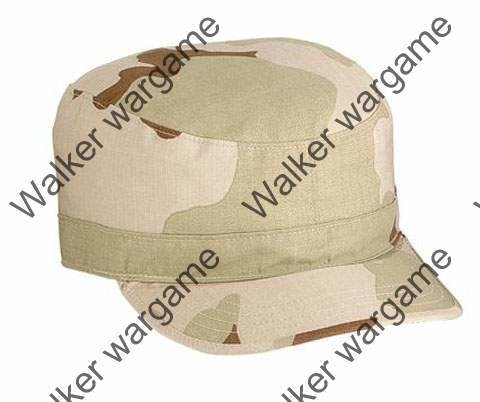 Combat Cap Hat - Three Tan Desert Camo