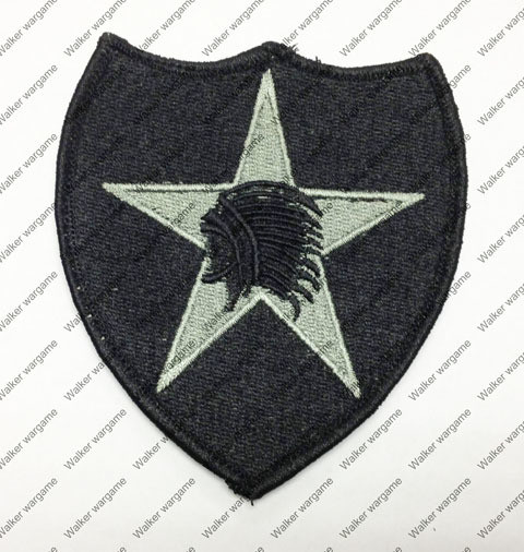 B966 US Army 2nd Infantry Division Patch With Velcro - ACU Colour