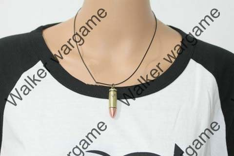 Dummy 9mm Pistol Bullet Necklaces
