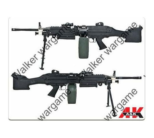 A&K M249 MKII SAW Machine Gun Full Metal With Big Mag
