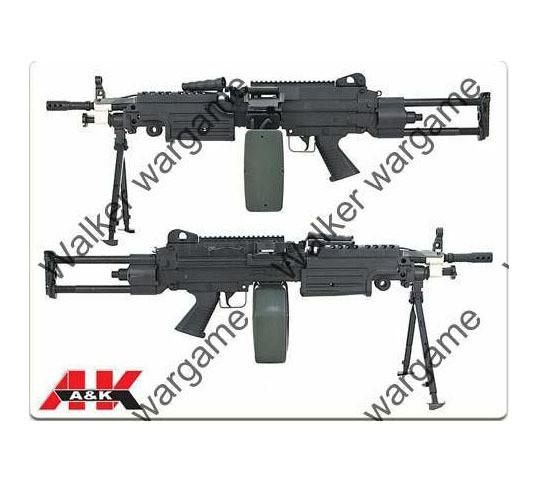 A&K M249 PARA SAW Machine Gun Full Metal With Big Mag