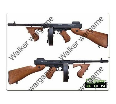 CYMA Thompson M1928 Full Metal WW2 Airsoft Submachine Gun - AEG