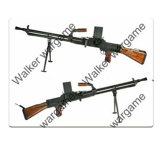 WW2 German Waffen SS LMG ZB VZ 26 Full Metal Real Wood - Airsoft Gun