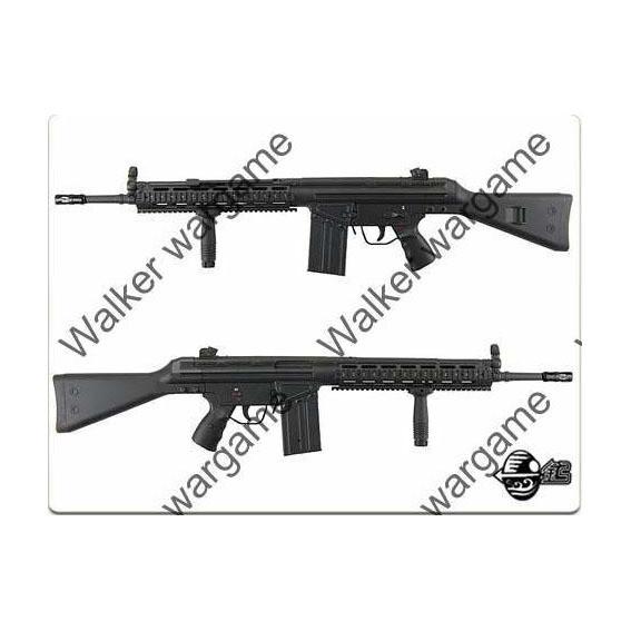 JG G3 RAS AEG Rifle Full Stock Metal Rail