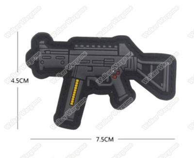 PWG004 PVC Rubber H&K UMP Patch With Velcro - Full Colour