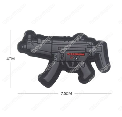 PWG006 PVC Rubber H&K Mp5 Patch With Velcro - Full Colour