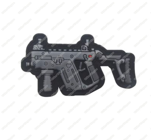 PWG011 PVC Rubber Kriss Vector Patch With Velcro - Full Colour